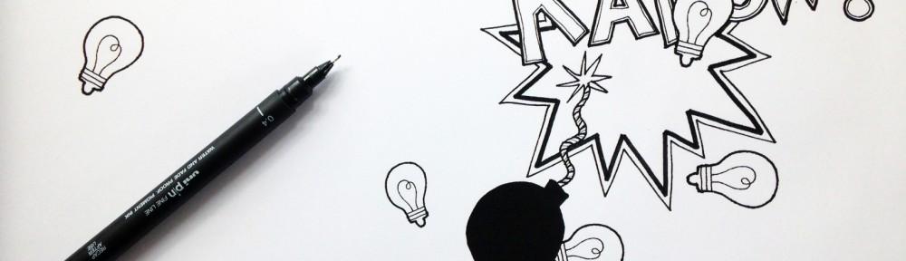 Eksempel på hvordan grafisk facilitering kan provokere nye spørgsmål ved at anvende kontekstualiseret handling frem for et simpelt ikon