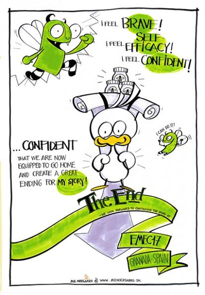 Eksempel på visuel facilitering fra konference
